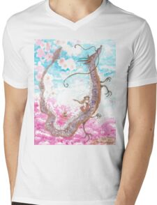 Cherry blossoms Mens V-Neck T-Shirt