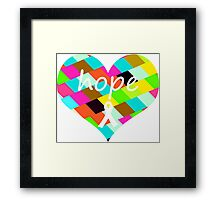 Colorful Hope Heart Framed Print