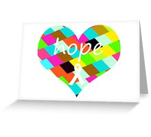 Colorful Hope Heart Greeting Card