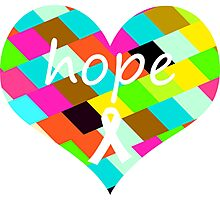 Colorful Hope Heart Photographic Print