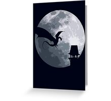 Smaug And The Tower Greeting Card