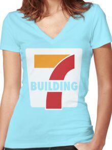 Building 7 Subversive '7 Eleven' Logo - Smoking Gun of 9/11 Women's Fitted V-Neck T-Shirt