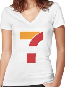 Building 7 Subversive '7 Eleven' Logo - Smoking Gun of 9/11 Women's Fitted V-Neck T-Shirt