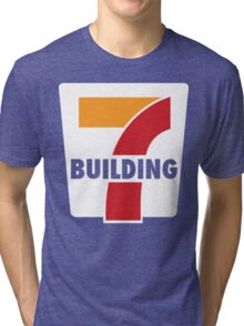 Building 7 Subversive '7 Eleven' Logo - Smoking Gun of 9/11 Tri-blend T-Shirt