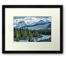 Castle Mountain and Bow River, Banff NP Framed Print