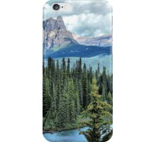 Castle Mountain and Bow River, Banff NP iPhone Case/Skin