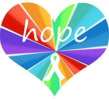Hope Heart Color Burst Photographic Print