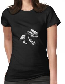 White T Rex Womens Fitted T-Shirt