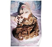 Old Hollywood Redhead Poster
