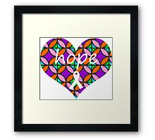 Hope Heart Stained Glass Framed Print