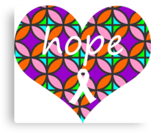 Hope Heart Stained Glass Canvas Print