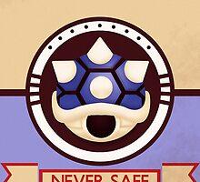 Never Safe - Mario Kart Print by CuriousityShop