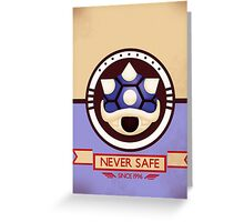 Never Safe - Mario Kart Print Greeting Card