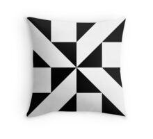 Monochrome Pattern Throw Pillow