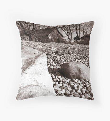 Wooden house Throw Pillow