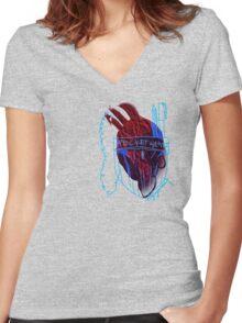 'Pocket Heart' Women's Fitted V-Neck T-Shirt