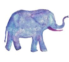 watercolor elephant  by theblankkcanvas