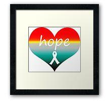 Hope Heart Rise Framed Print