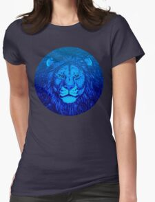 Blue Lion Bubble portrait by Cheerful Madness!! Womens Fitted T-Shirt