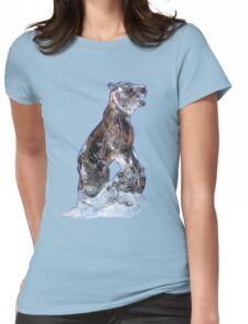 An Ice cool Bear. Womens Fitted T-Shirt