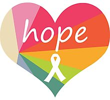 Hope Heart Rainbow Pie Photographic Print