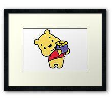 Pooh Loves Honey Framed Print