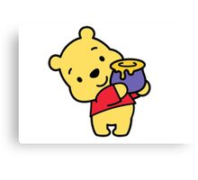 Pooh Loves Honey Canvas Print