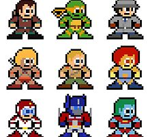 8-bit 80s Cartoon Heroes by 8 Bit Hero