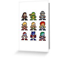 8-bit 80s Cartoon Heroes Greeting Card