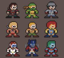 8-bit 80s Cartoon Heroes Kids Clothes