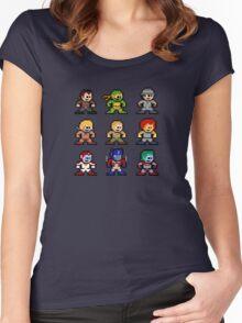 8-bit 80s Cartoon Heroes Women's Fitted Scoop T-Shirt