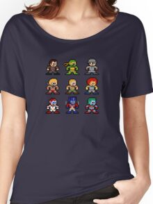 8-bit 80s Cartoon Heroes Women's Relaxed Fit T-Shirt