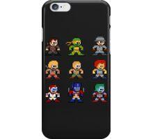 8-bit 80s Cartoon Heroes iPhone Case/Skin
