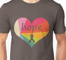 Hope Heart Rainbow Pie Unisex T-Shirt