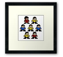 8-bit Star Trek: The Original Series Framed Print