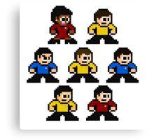 8-bit Star Trek: The Original Series Canvas Print