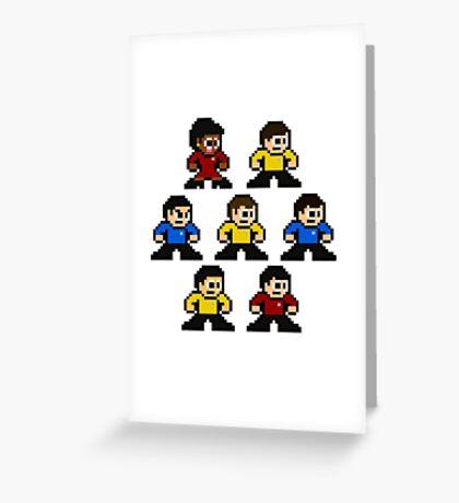 8-bit Star Trek: The Original Series Greeting Card