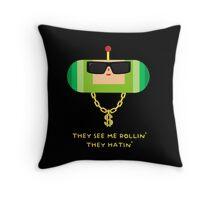 Gangsta Prince Throw Pillow