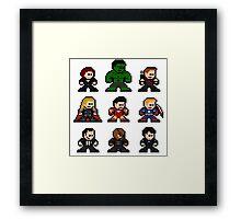 8-bit Movie Avengers Framed Print