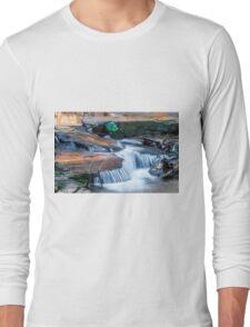 Cascading water down the Carreck Creek Long Sleeve T-Shirt