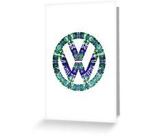 Volkswagen Bohemian Pattern Greeting Card