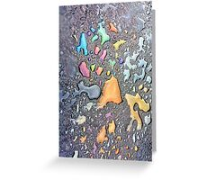 The Colors on the Pavement Greeting Card