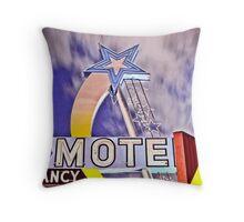 Star Motel Throw Pillow
