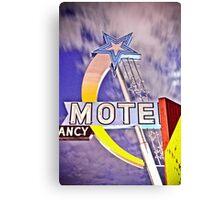 Star Motel Canvas Print