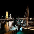 Lindau - Harbour by Michael Breitung