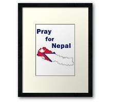 Pray for Nepal Framed Print