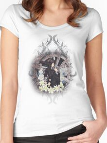 Kuroshitsuji (Black Butler) - Ciel Phantomhive & Sebastian Michaelis 4 Women's Fitted Scoop T-Shirt