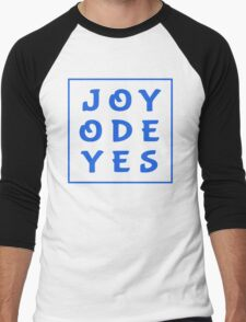 Joy Ode Yes – Blue Men's Baseball ¾ T-Shirt