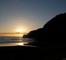 Ruapuke sundown by donnz