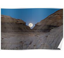 Moonrise in the Bisti Poster